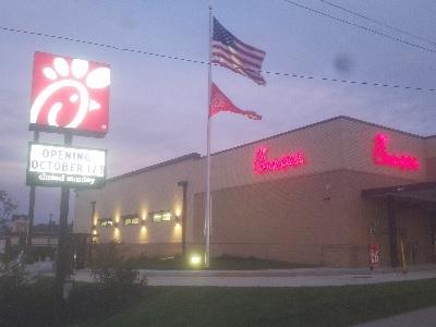 Chik-fil-A has grown to 2,400 restaurants.