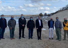 Rep. Zeldin Joins Officials, Community Residents to Survey North Sea Dredging Project, Beach Replenishment