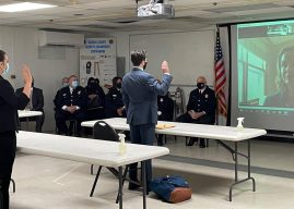 Nassau County Executive Laura Curran Swears in Recruits for Corrections Academy
